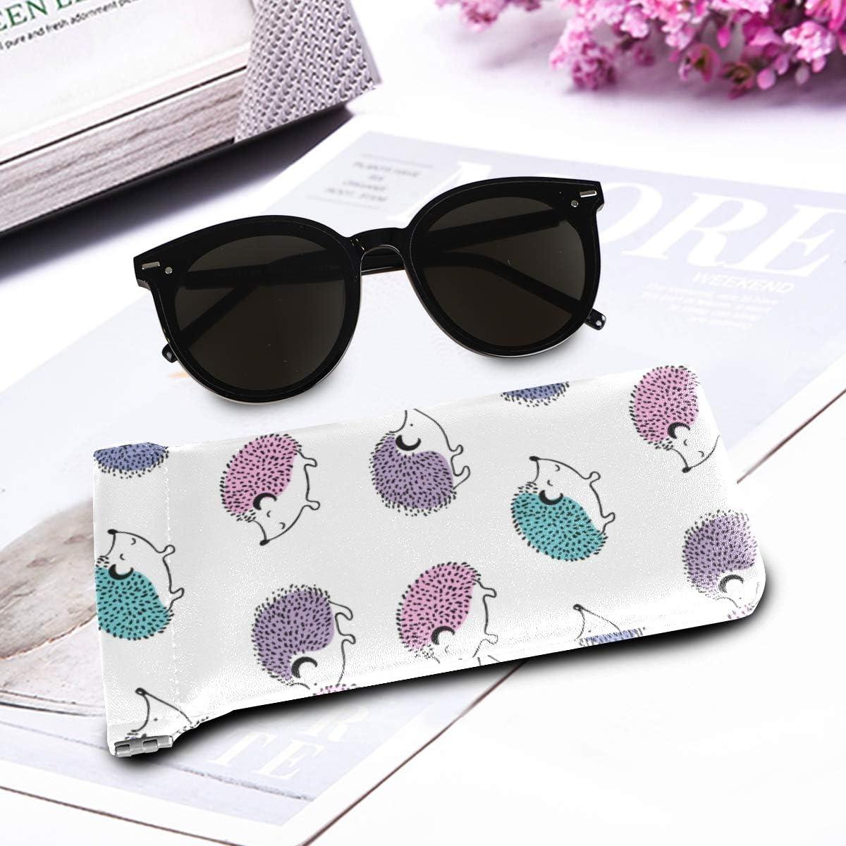 Portable pour femme hommes lunettes de soleil pochette sac /à bijoux squeeze top h/érisson mignon dessin anim/é animal impression /étuis /à lunettes