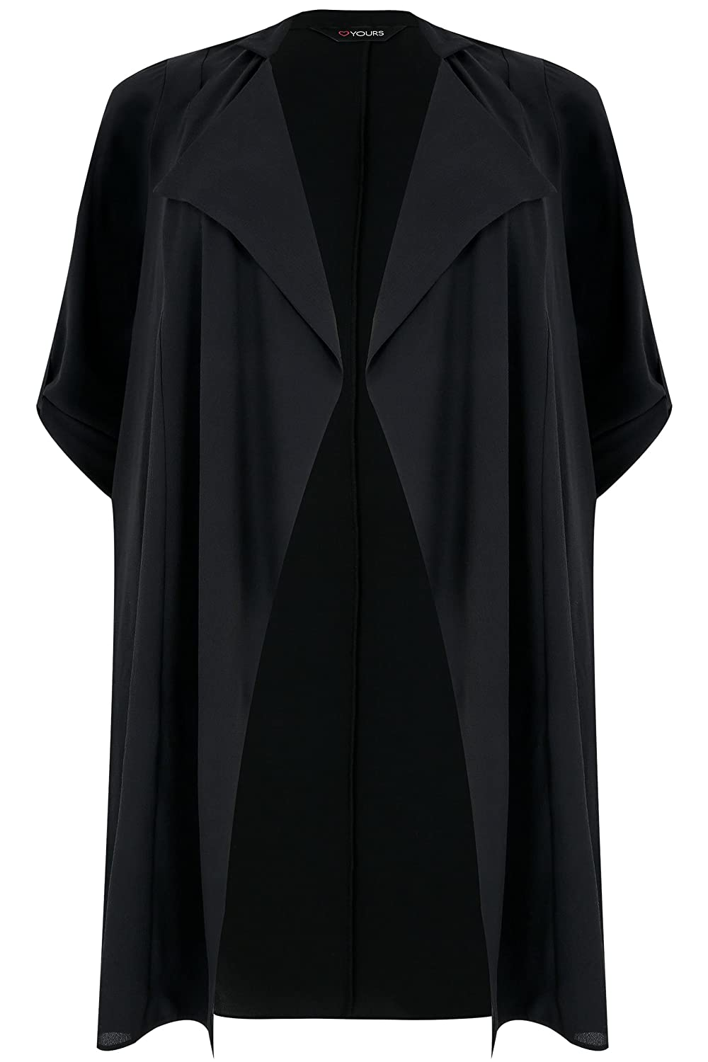 Yours Clothing Women's Plus Size Lightweight Duster Jacket with Waterfall Front