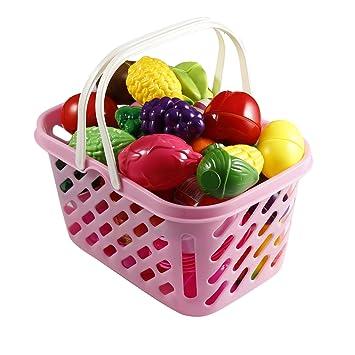 Smibie Juego de Cocina Pretend Play Food 49 PCS Verduras y Frutas ...