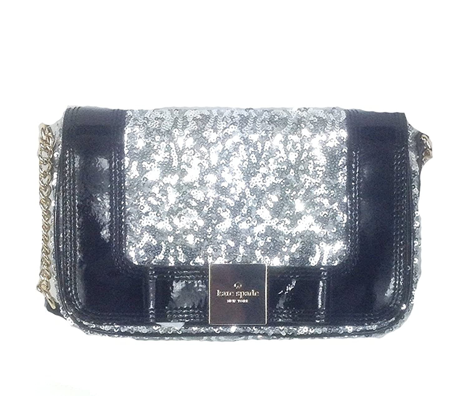 Kate Spade New York Primrose Hill Little Kaelin Sequin Evening Bag, Silver WKRU2268
