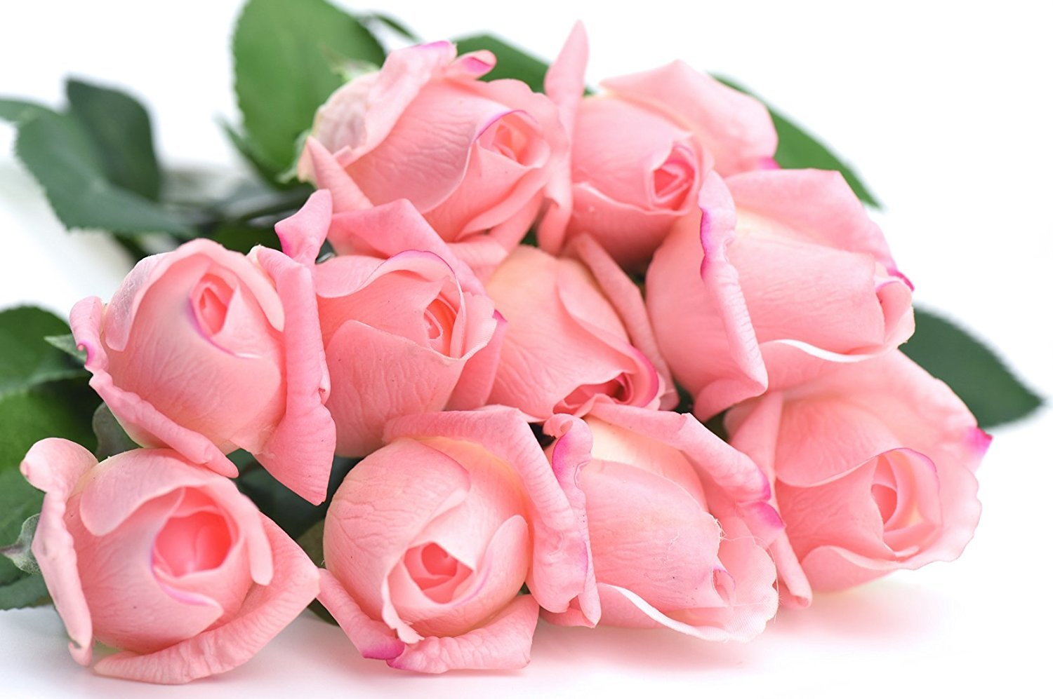 FiveSeasonStuff-10-Stems-of-Real-Touch-Silk-Roses-Petals-Feel-and-Look-like-Fresh-Roses-Artificial-Flower-Bouquet-for-Wedding-Bridal-Office-Party-Home-Decor-Dark-Pink