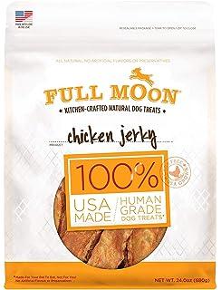 Full Moon All Natural Human Grade Dog Treats, Chicken Jerky, 24 Ounce (3
