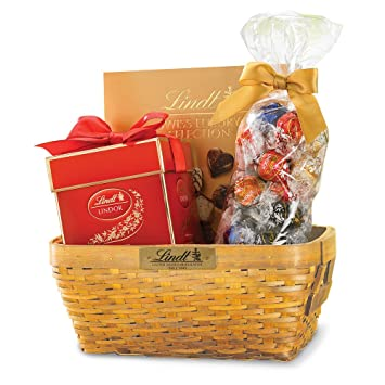 Amazon.com : Lindt Thank You Gift Basket : Gourmet Chocolate Gifts ...
