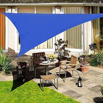 XYNH Toldo triangular para toldo, más grueso para exteriores, impermeable, duradero, resistente al desgarro, para cubierta, patio, pérgola, jardín, tela de sombra: Amazon.es: Jardín