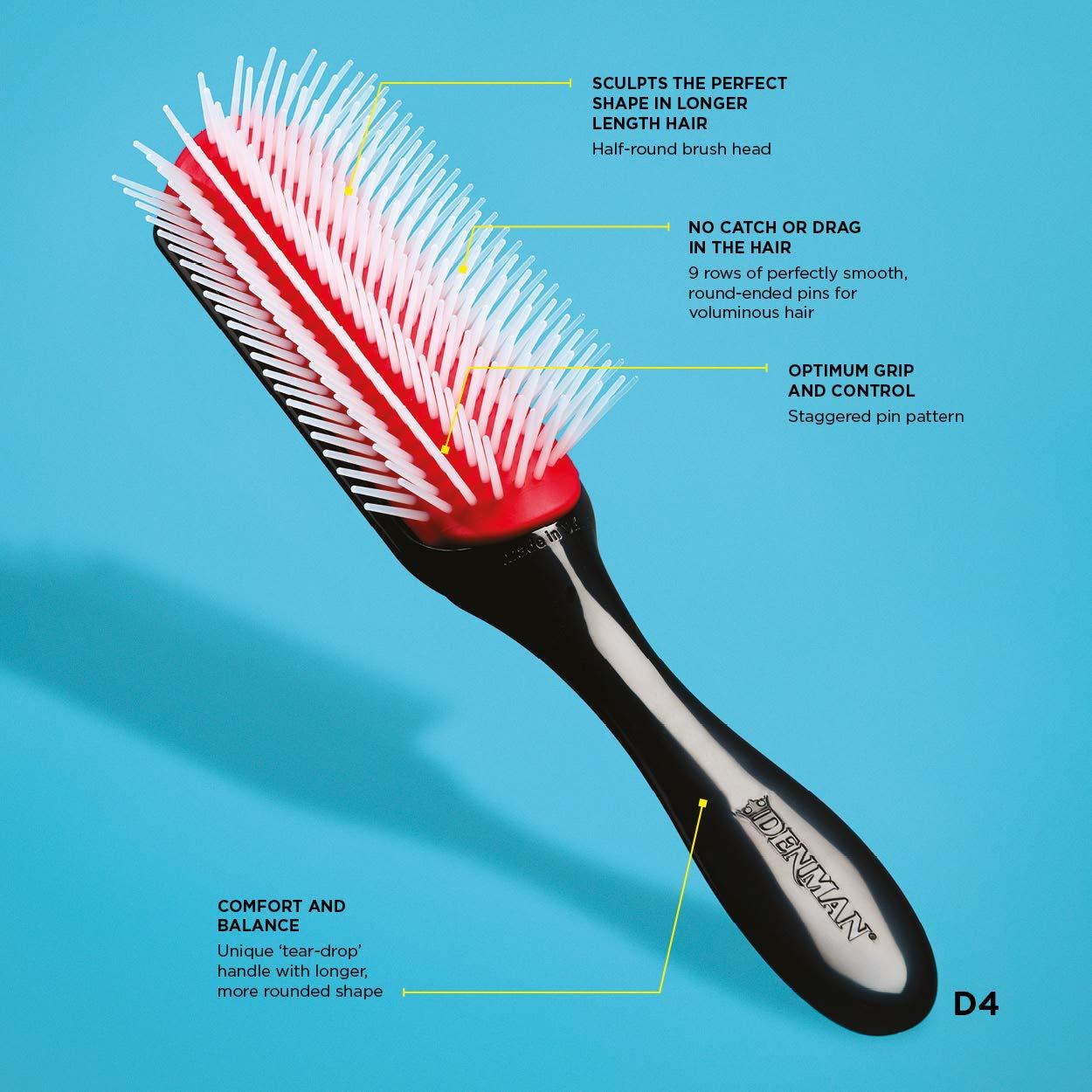 Denman, Cepillo para el pelo (D4 con 9 Hileras) - 10 gr.: Amazon.es: Belleza