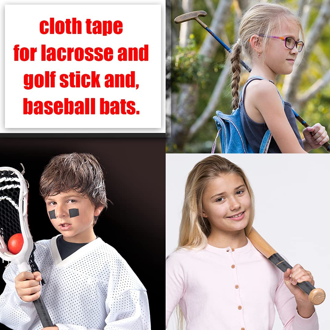 Hockey Tape - Multipurpose Sports Cloth Roll for Roller & Ice Hockey Stick Handles Blades - Grips for Lacrosse Baseball Bat NON-REFLECTIVE Strong Easy Tear - Wire management tapes Golfers tape (Mix) : Sports & Outdoors