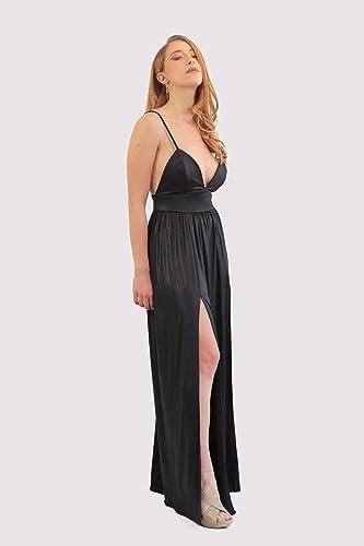 Amazon Black Evening Dress Maxi Metallic Long Dress For