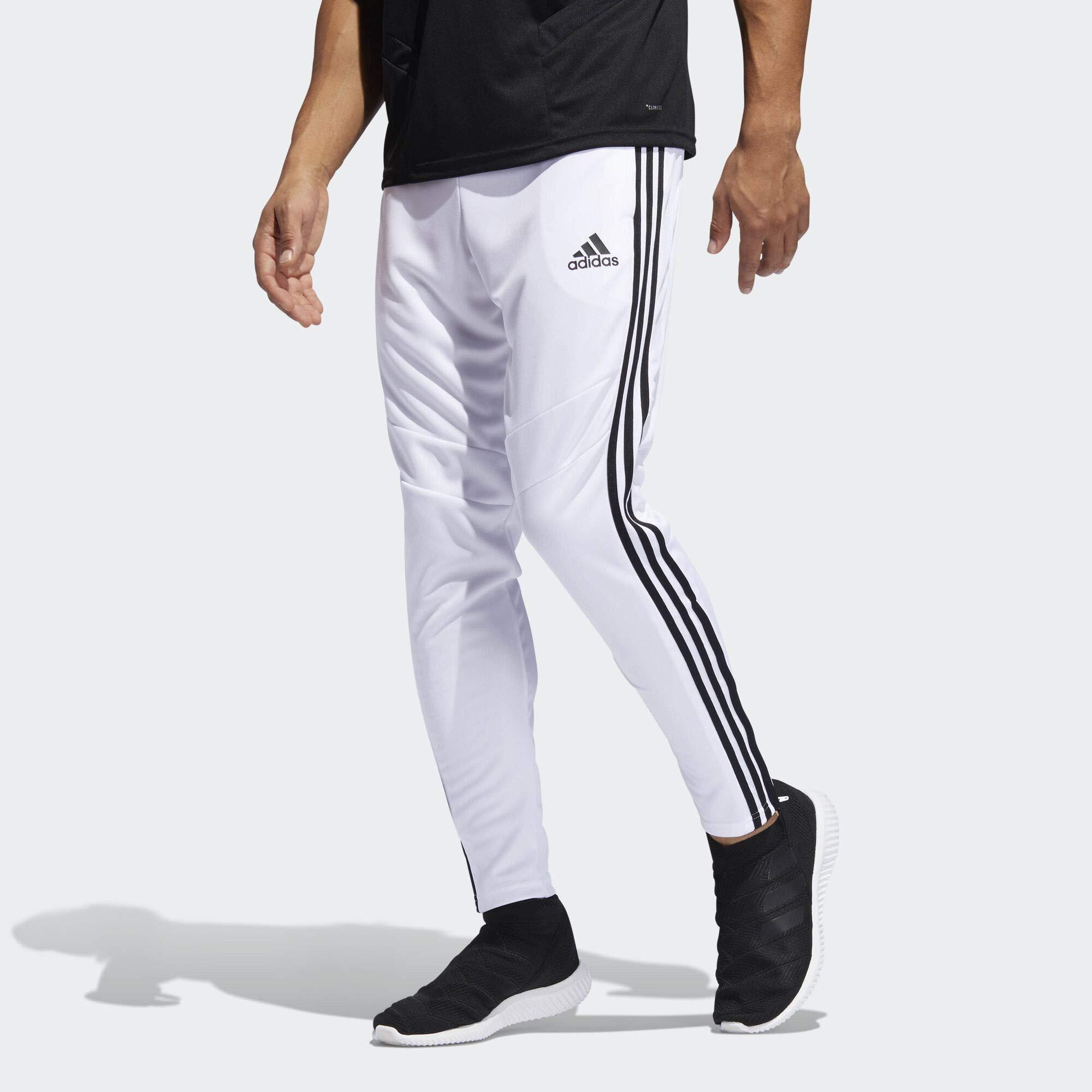 adidas Men's Tiro 19 Training Soccer Pants, Tiro '19 Pants, White/Black, XX-Large by adidas