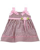 Blueberi Boulevard Baby Girls' Gingham Dress Brown/Pink (24 Months)