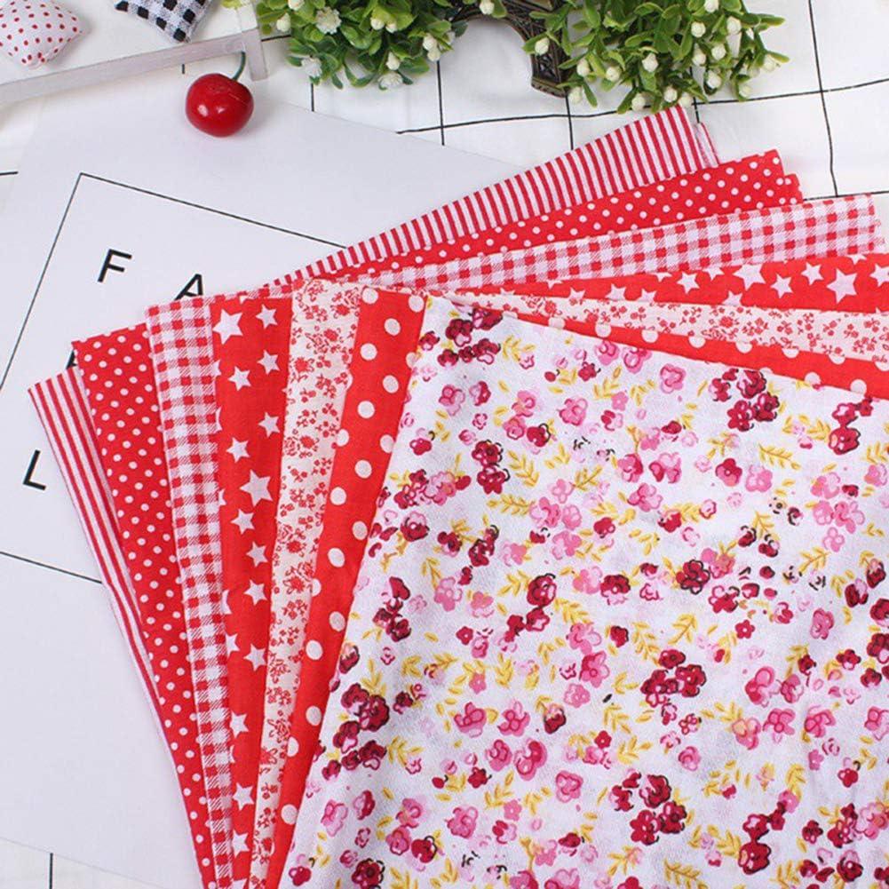 50x50CM//25x25CM Cherioll Tessuti Stampati 14 Pezzi,Set di Stoffa Patchwork per Fatti a Mano,Materiali Tessuti in Cotone per Hobby Creativi,Cucire Trapuntatura Artigianato DIY,Multicolore