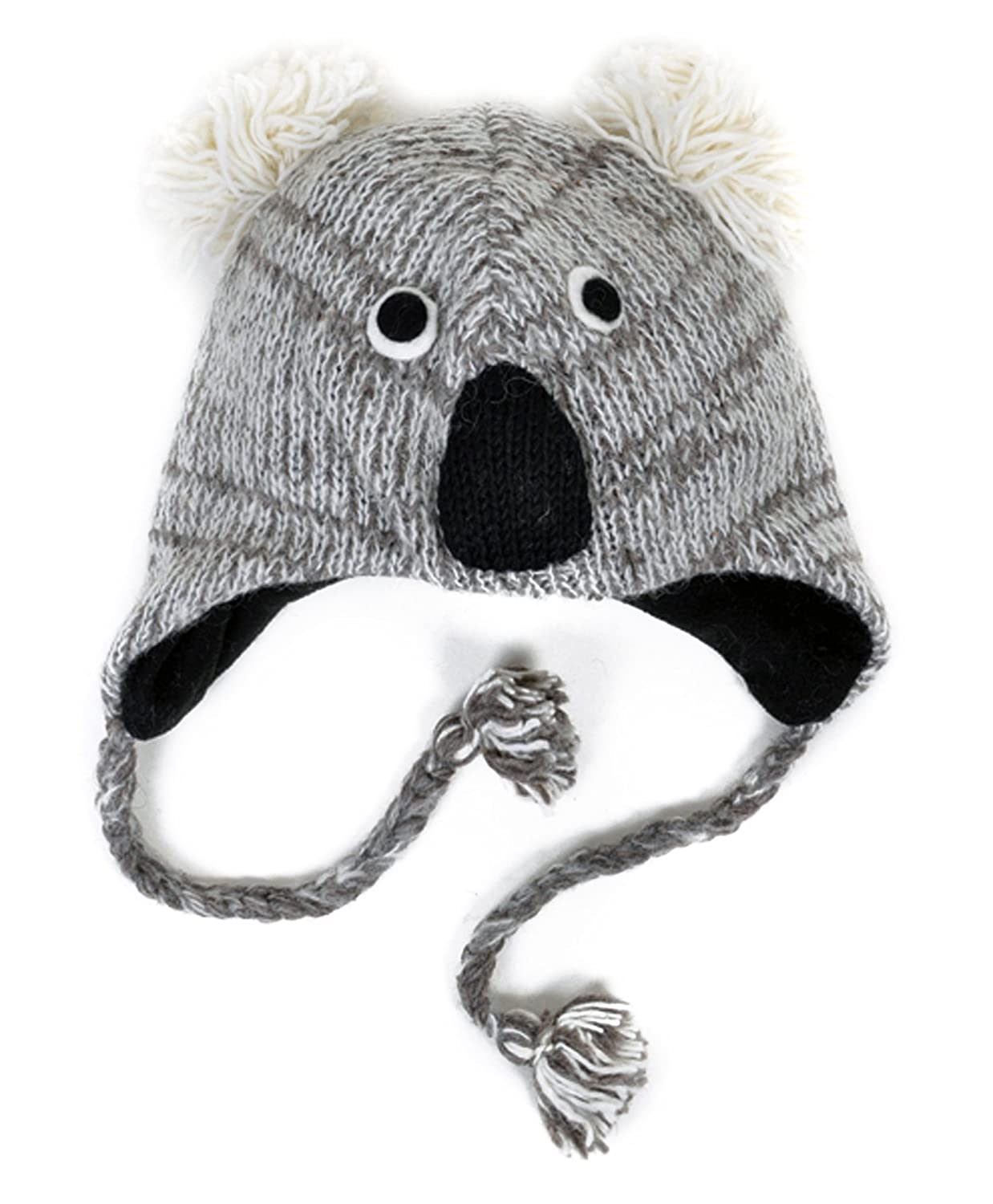 5d0c2f50a 100% Wool 'Hat-imals' Plush Knit Winter Hats (Wool Collection) (Koala  (AHW800))