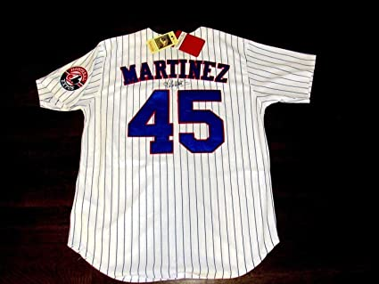 huge discount ddf81 8fb5e Pedro Martinez Hof Cy Young Montreal Expos Autographed ...