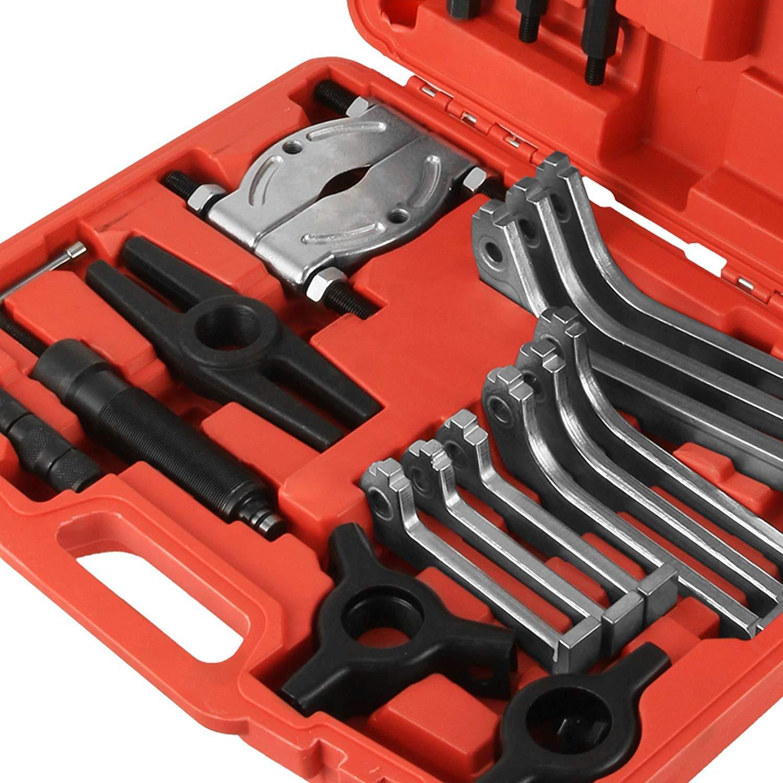 SucceBuy 10T Extracteur Hydraulique Coffret Extraction Roulement Outils Extracteur de Vis Kits Tools