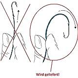 Roter Stiel L/änge 150cm Verstellbar Kinetic Bootskescher gro/ß mit gummierten Netz Netz 60x65x70cm
