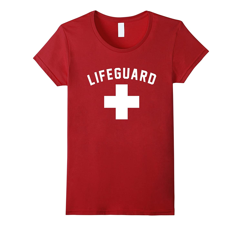 Lifeguard Red White Certified Swimming Pool T Shirt