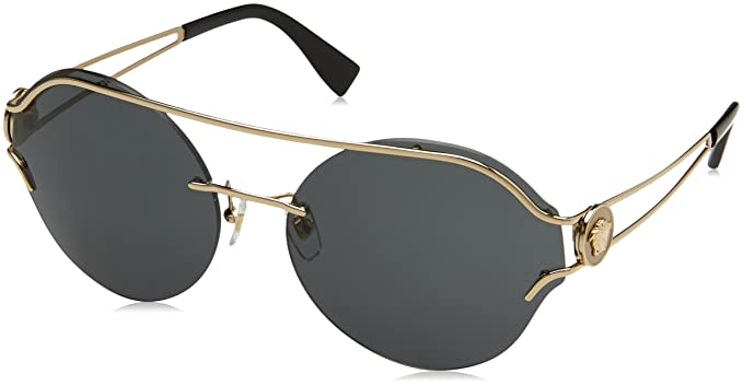 de049aa01f Versace Womens Sunglasses Gold Grey Metal - Non-Polarized - 61mm