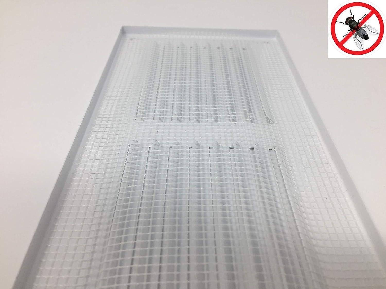 mr3010 Grille da/ération anti-insectes Blanc 300 x 100 mm
