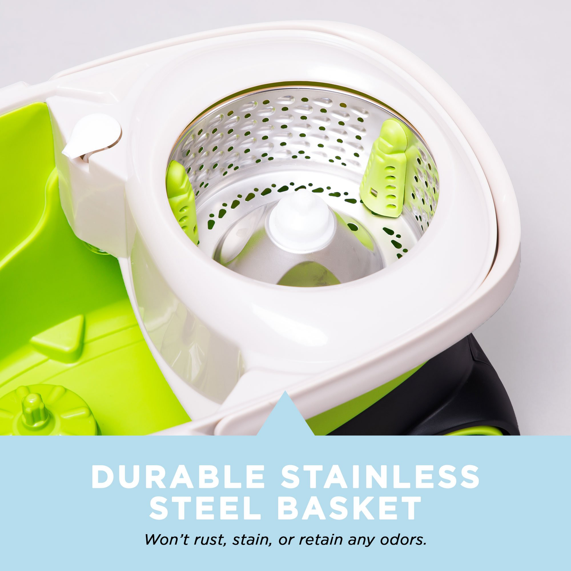 Mopnado Deluxe Stainless Steel Rolling Spin Mop System