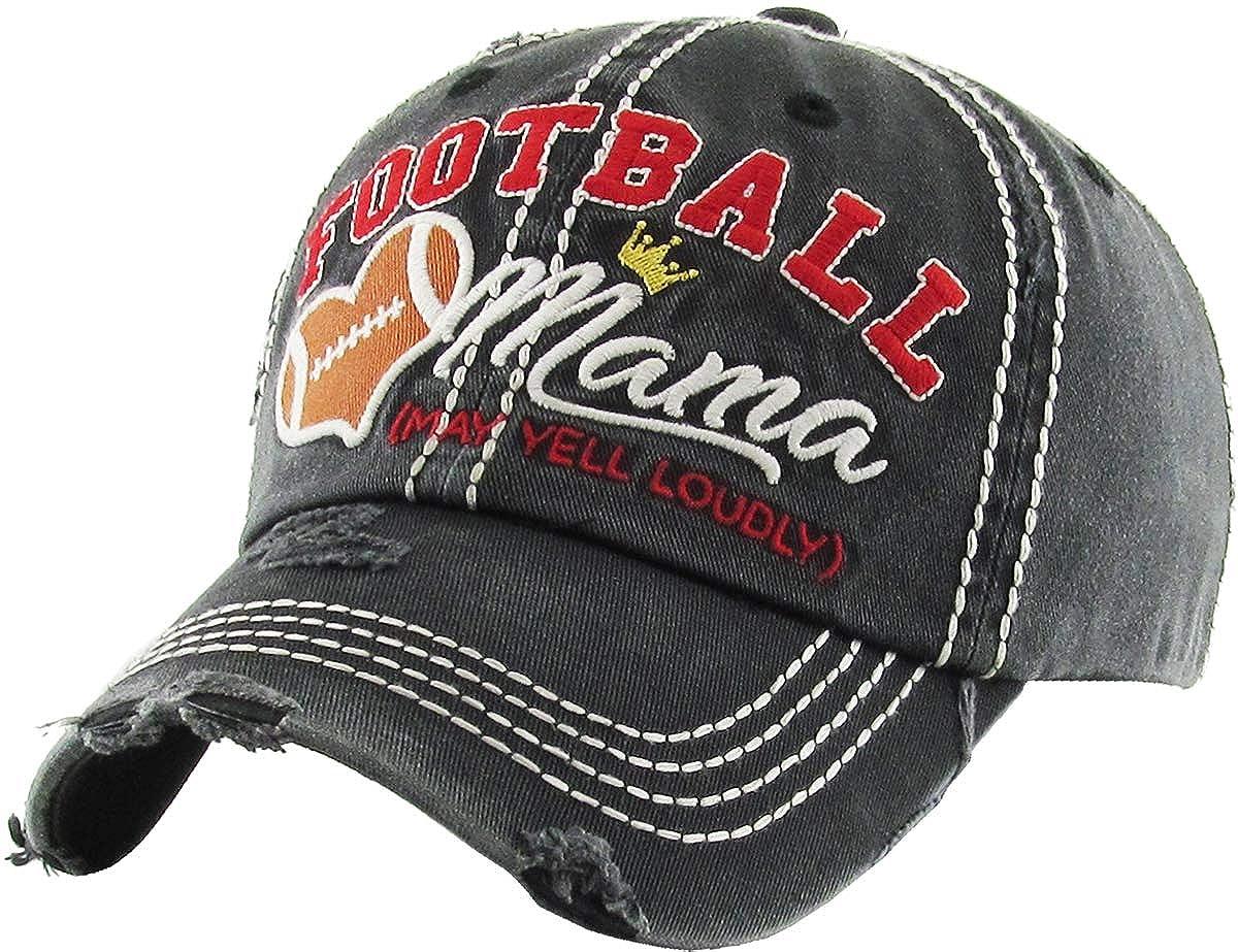 Amazon.com  KBV-1162 BLK Womens Vintage Baseball Cap Distressed Washed Hat   Clothing 3dc7663708bd