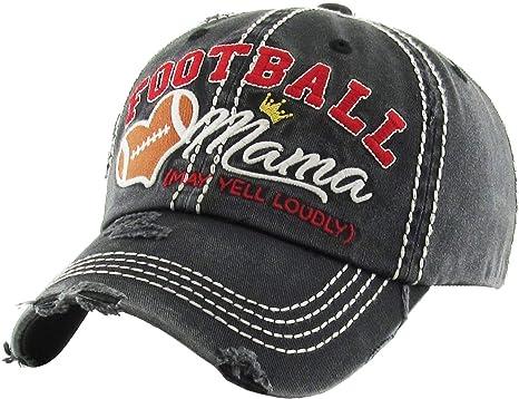 Amazon.com  KBV-1162 BLK Womens Vintage Baseball Cap Distressed ... 4d7544c35da3