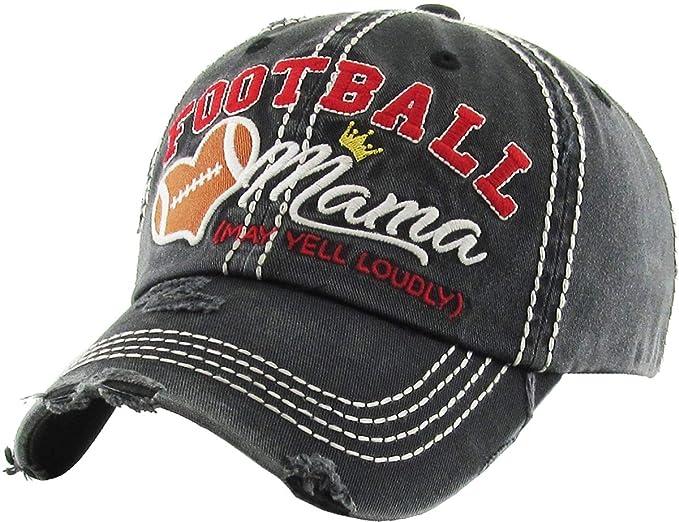 Amazon.com  KBV-1162 BLK Womens Vintage Baseball Cap Distressed ... 5b28ac47df95