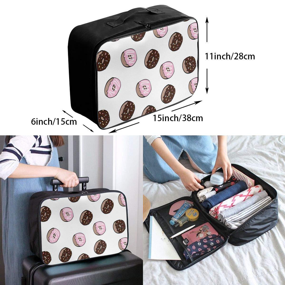 Travel Luggage Duffle Bag Lightweight Portable Handbag Doughnut Large Capacity Waterproof Foldable Storage Tote