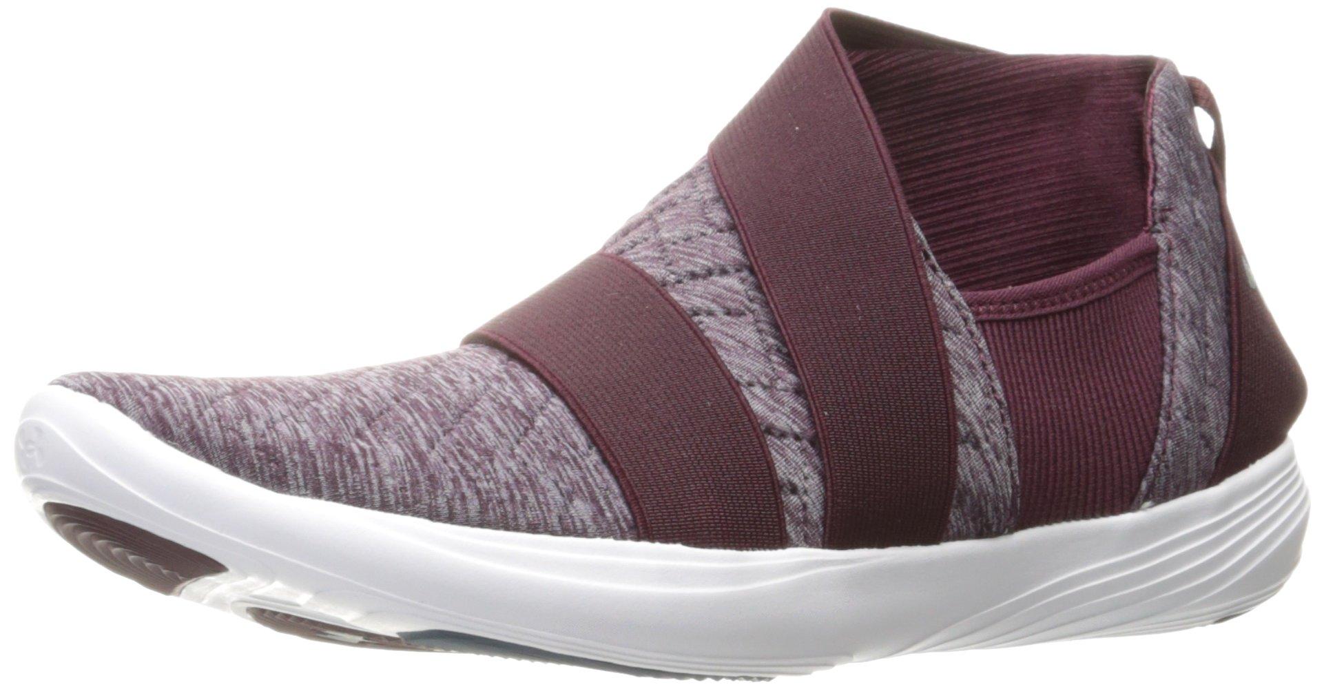 Under Armour Women's Street Precision Slip Metallic Sneaker, Raisin Red (916)/Raisin Red, 8