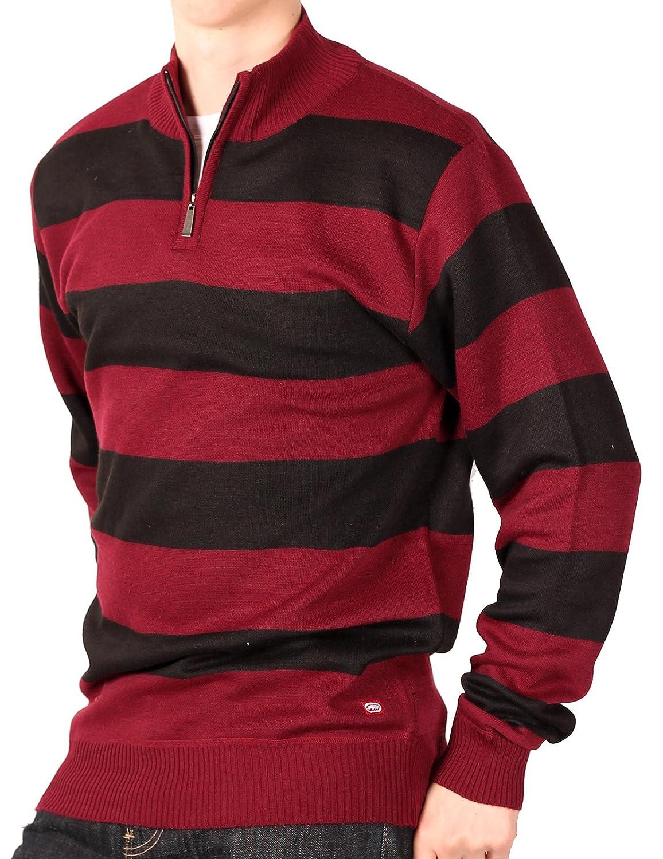Ecko Unltd. Young Men's Rugby Stripe 1/4-Zip Sweater VE 8409