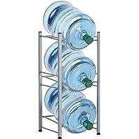 LIANTRAL 3-Tier Water Cooler Jug Rack, 5 Gallon Water Bottle Storage Rack Detachable Heavy Duty Water Bottle Cabby Rack…