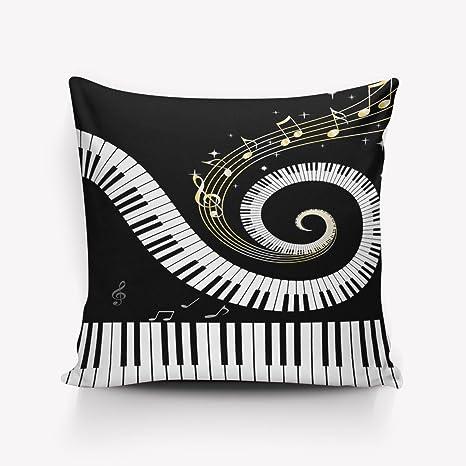 winksofa teclas de Piano música notas decorativa fundas de ...