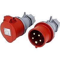 TPelectric CEE kontaktkoppling SET 16A 5-polig IP44 400V VDE & CE
