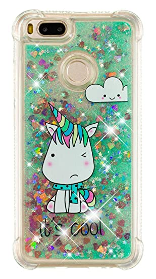 Amazon com: Xiaomi Mi A1 Case, SHUNDA Bling Glitter Sparkle