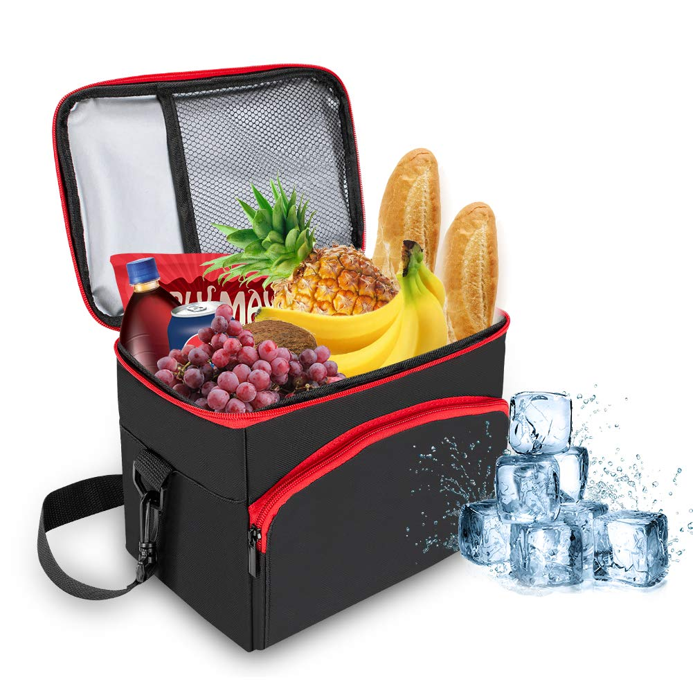 Winzwon 8L Insulated Lunch Bag Picnic Cool Bag Leakproof Water-Resistant Foldable Soft Cooler Bag for Camping, Gym, Travel, Picnic