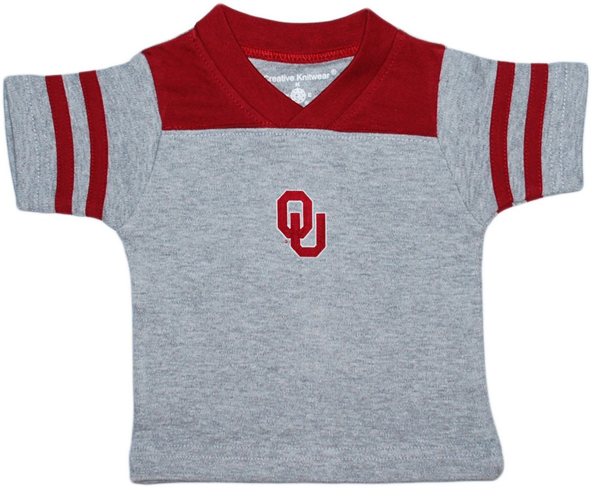 Creative Knitwear University of Oklahoma Sooners Baby Sport Shirt Crimson by Creative Knitwear