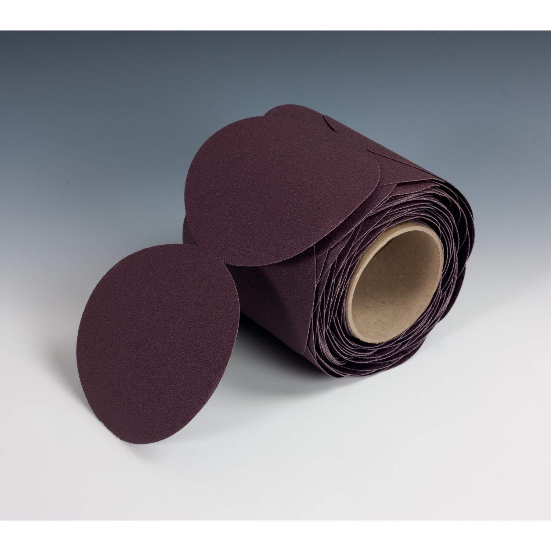 Roll of 100 3M Stikit Cloth Disc Roll 341D Aluminum Oxide 5 Diameter PSA Attachment 60 Grit
