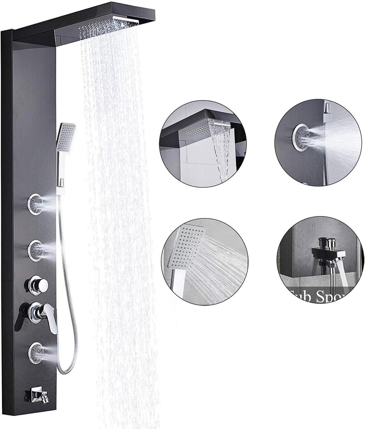 Suguword - Columna de ducha de acero inoxidable con elegante ...