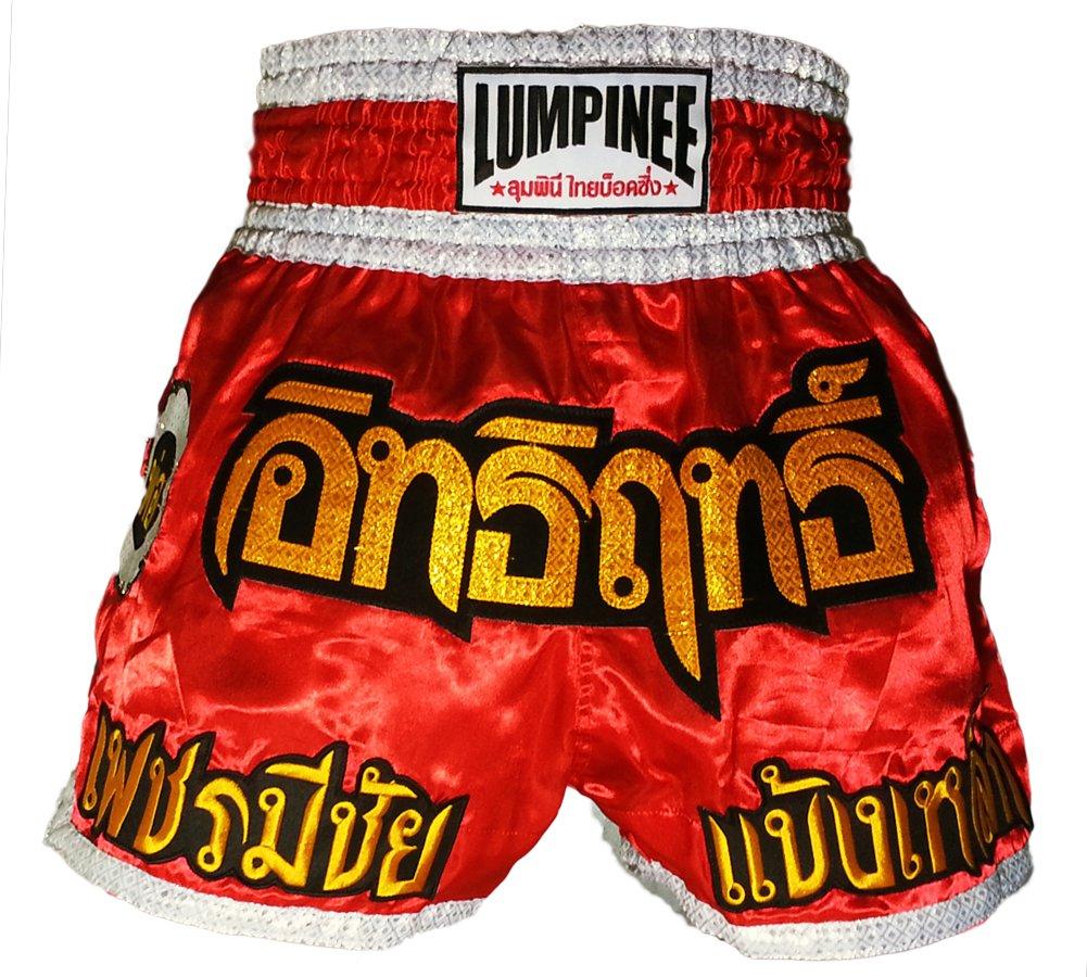LUM-016 Lumpinee Größe L Muay Thai Kick Boxen Shorts, Kickboxen Shorts Made in Thailand
