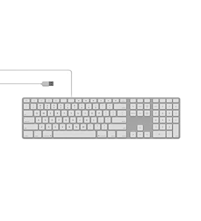 e997d4920a7 Amazon.com: Matias FK318LS Backlit RGB Tactical USB 2.0 Wired Aluminum  Keyboard with Numeric Keypad - Compatible with Mac (Silver): Computers &  Accessories