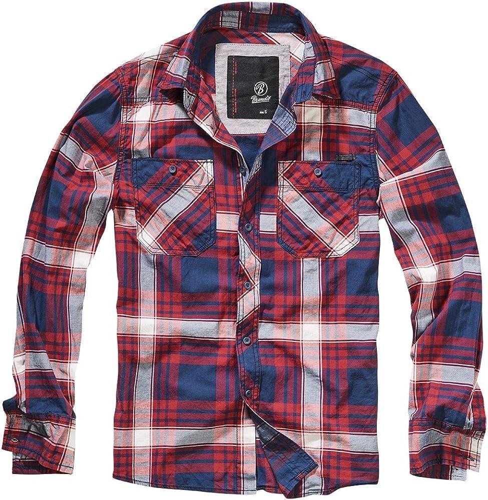 Brandit Checkshirt Cotton Slim fit Camisa, Rojo (Red Checkered), L para Hombre: Amazon.es: Ropa y accesorios
