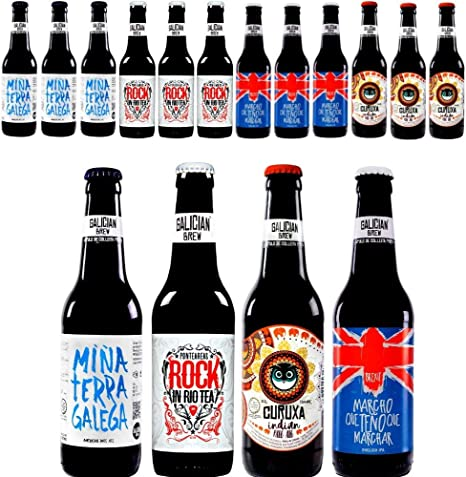 Pack 12 cervezas artesanas Galician Brew. Incluye Rock In Río Tea ...