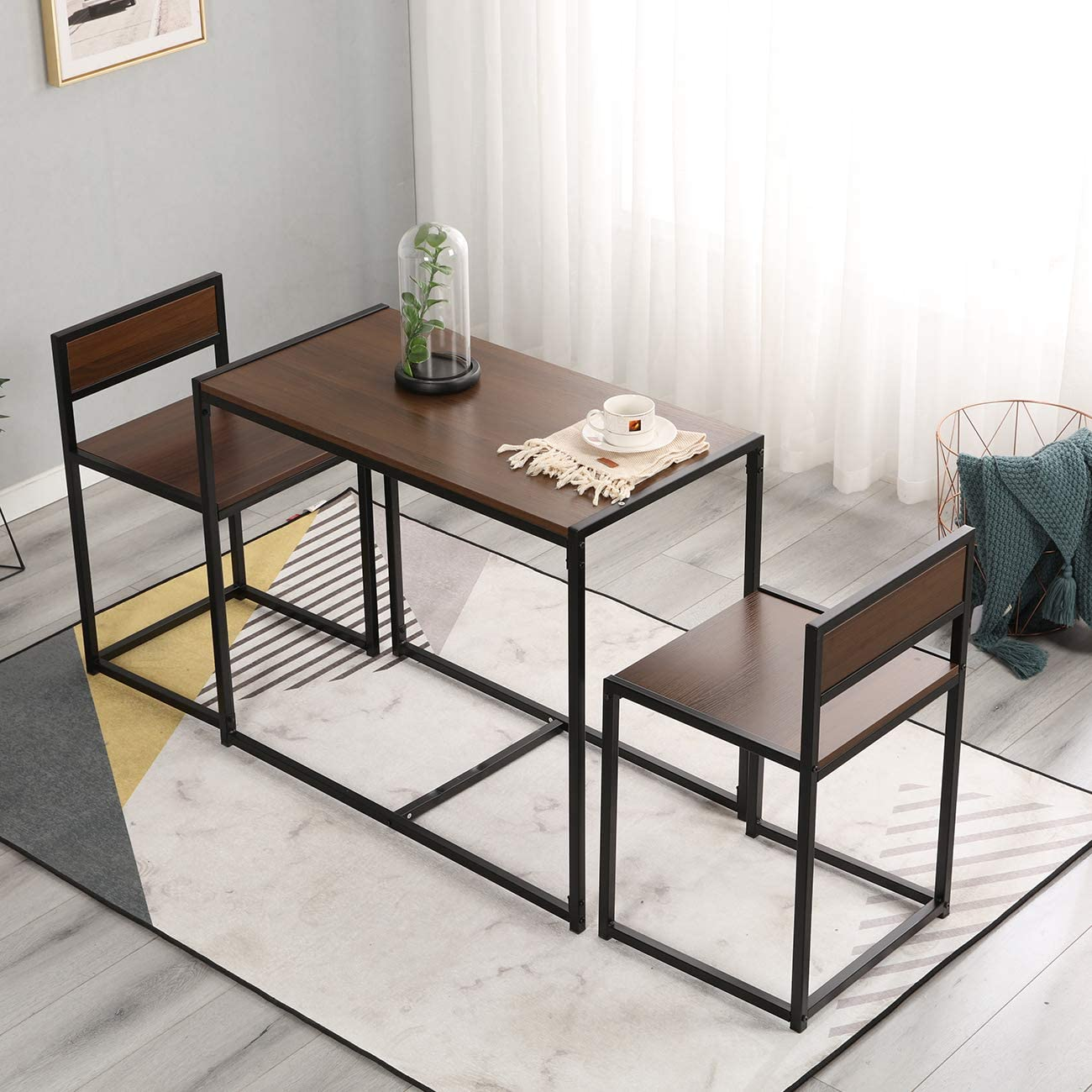 SogesHome Dining Table Set Dining Table & 9 Chairs Compact Kitchen ...