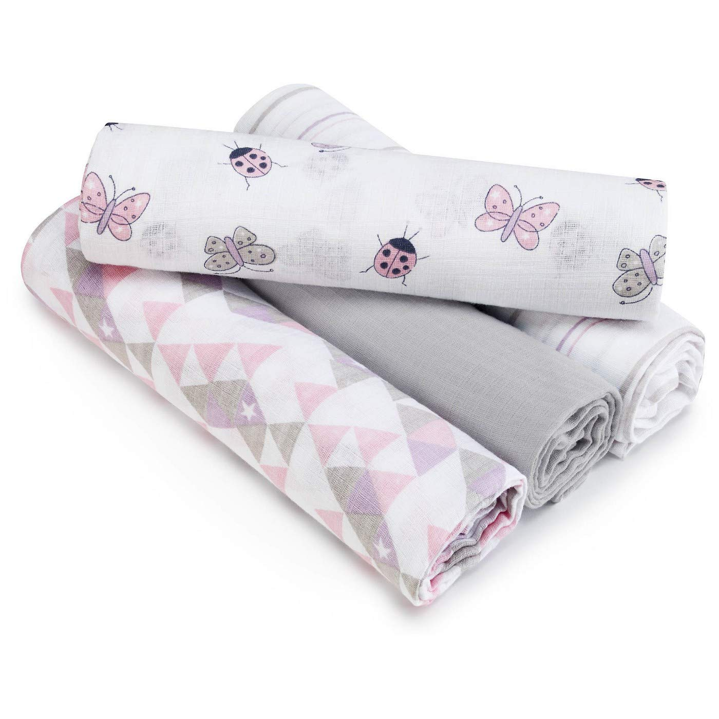 Aden by aden Pretty Pink anais swaddleplus 4 pack