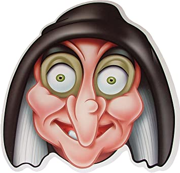 Halloween Cartoon Witch Face.Disney Halloween The Wicked Witch Snow White Card Face Mask