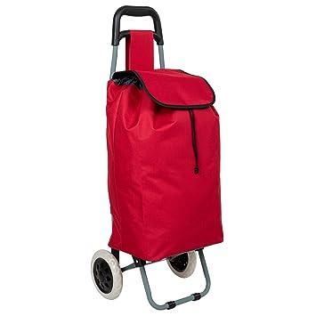 Chariot de courses rouge 2 roues 30 L QOkib