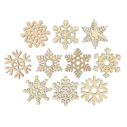 Happyyami Piezas de Madera para Manualidades Colgantes de Navidad ...