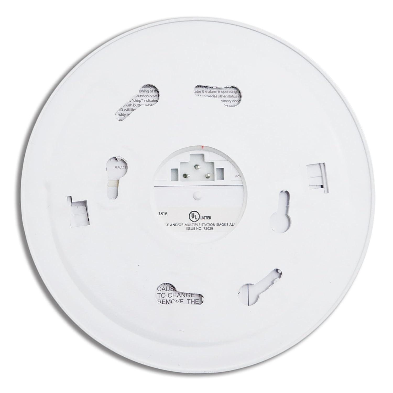 Kidde 21006374 I12020 Basic Hardwire Test Button Smoke Ionization Detector Ic Alarm White Home Improvement