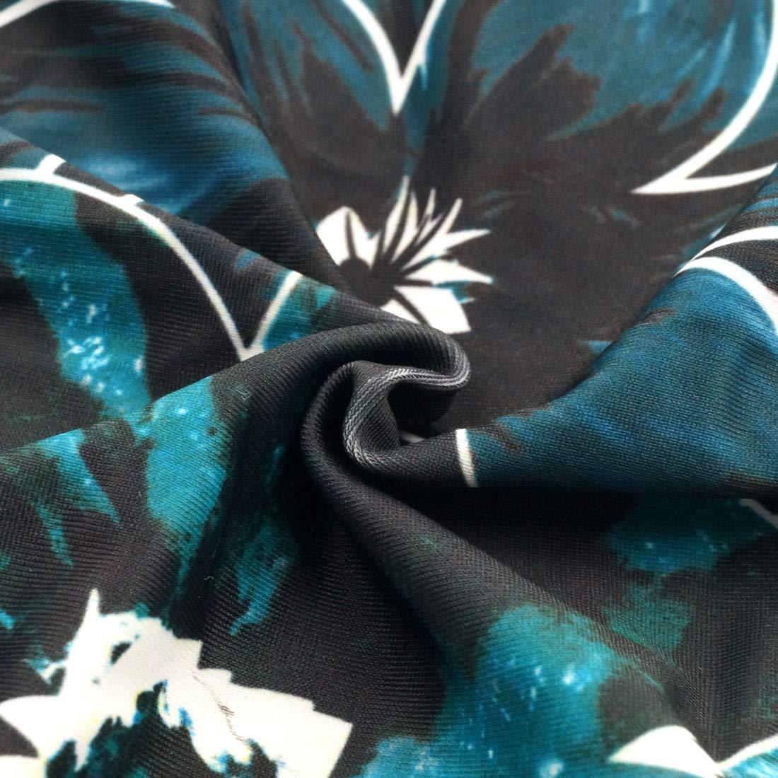 FEOYA Mujer Ba/ñador de Una Pieza Manga Corta Traje de Ba/ño Push Up para Playa Surf Ropa de Nataci/ón El/ástico Swimsuit para Deportes Acu/áticos