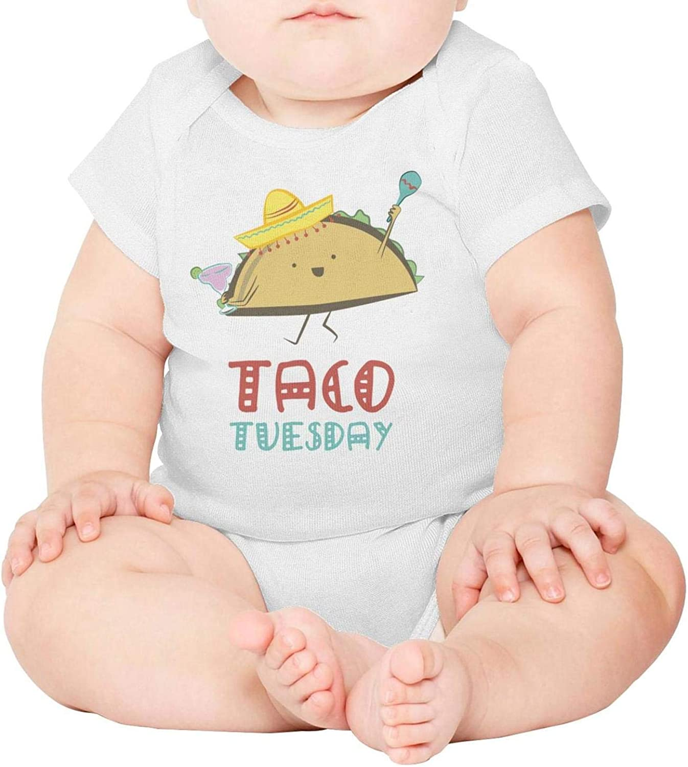 Baby Onesies Taco Tuesday Cartoon 100/% Cotton Bodysuits Super Power Short Sleeve Bodysuit