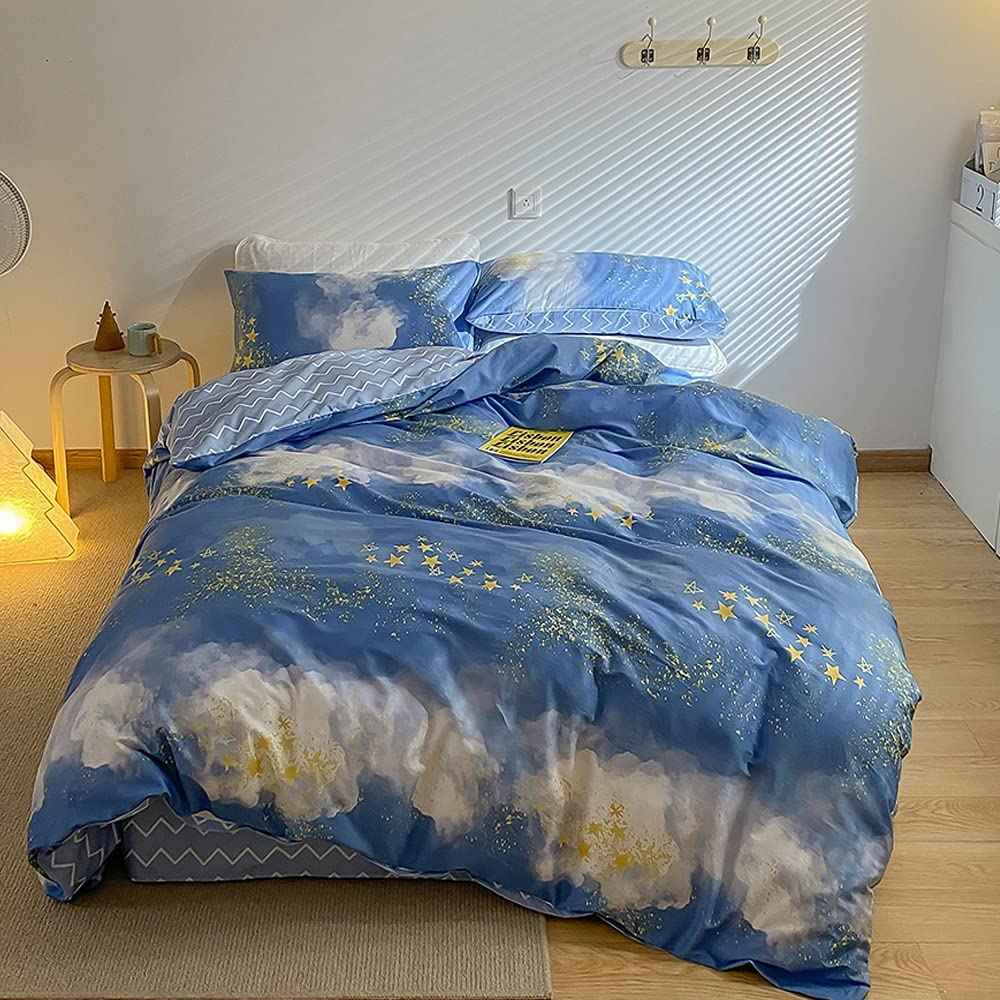 Sky Blue Duvet Cover for Teenagers Twin Max 80% OFF Bedding Boy Set Oakland Mall Toddler