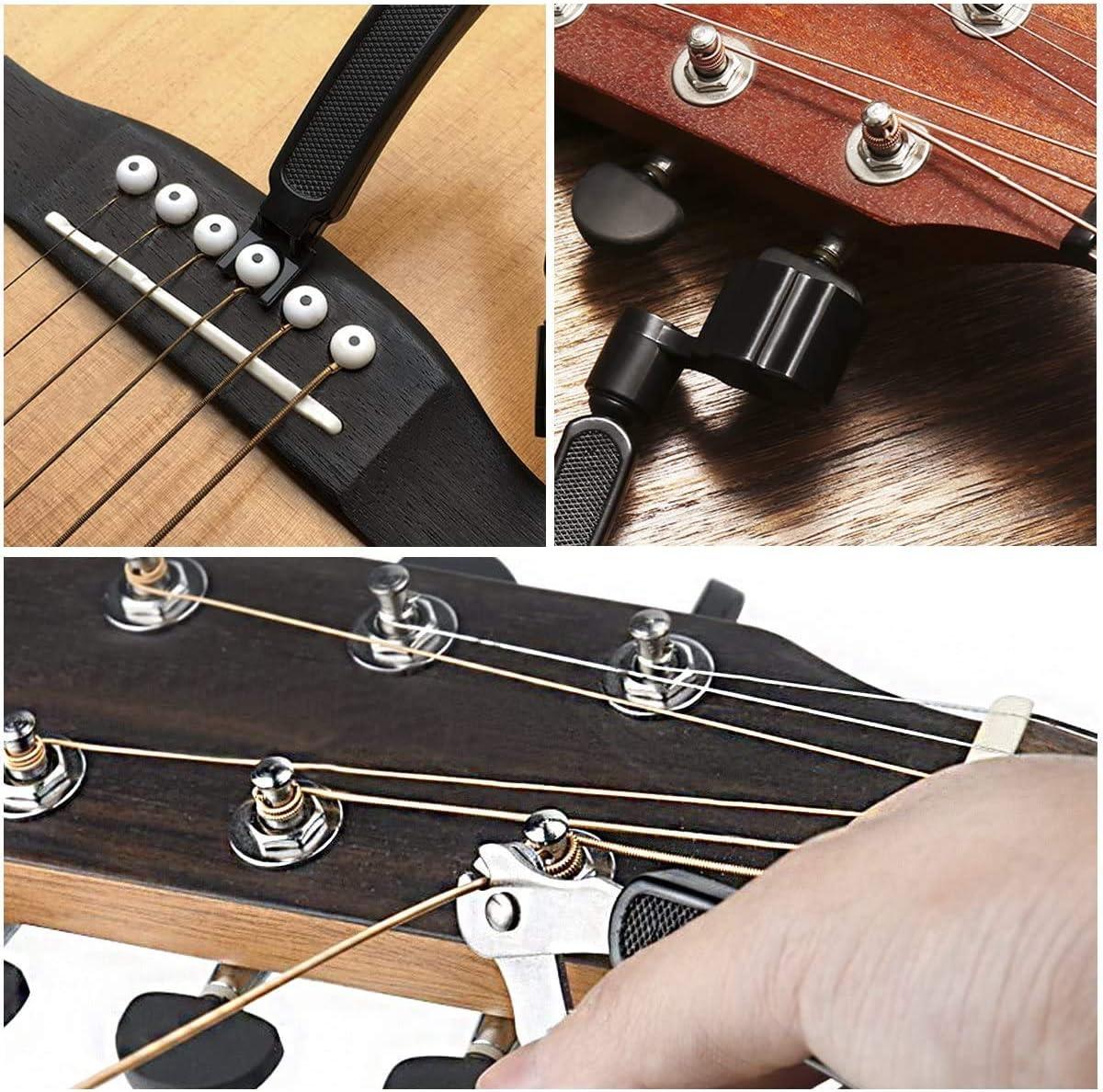 Voarge 3 en 1 Outil de r/éparation de cordes de guitare outil de r/éparation et r/églage de la guitare outil de r/étraction extracteur accessoires